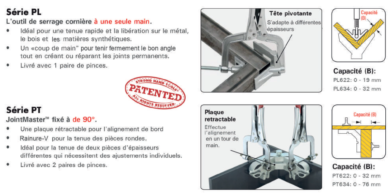 pince angulaire jointmaster pl et pt
