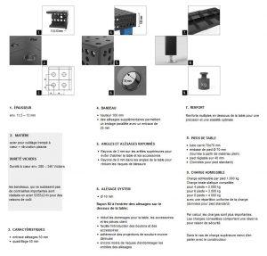 descriptif table s16 siegmund professional extreme 8.7