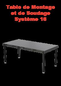 table montage et soudage système 16 page présentation