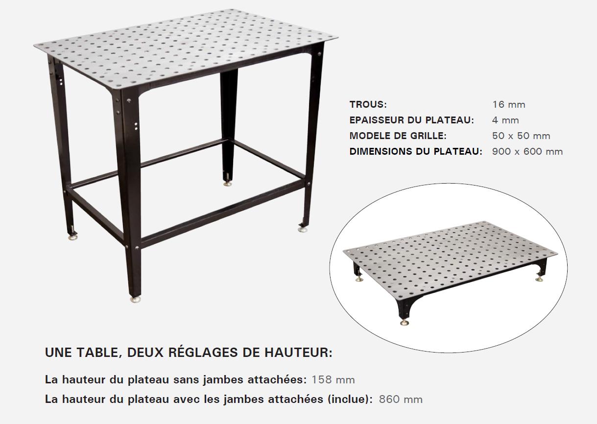 table de soudure modulaire
