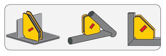 dessin position équerre magnétique