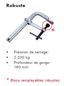 serre-joint standard robuste
