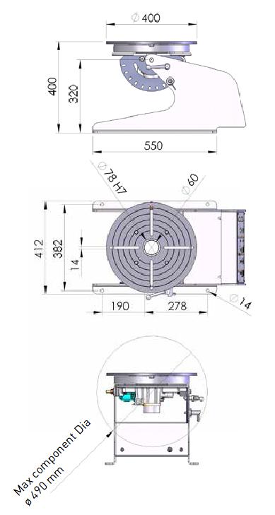 schema d'un positionneur deux axes