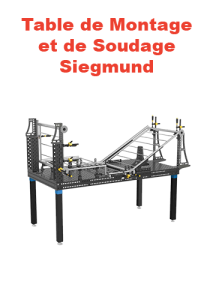 table montage et soudage siegmund page présentation