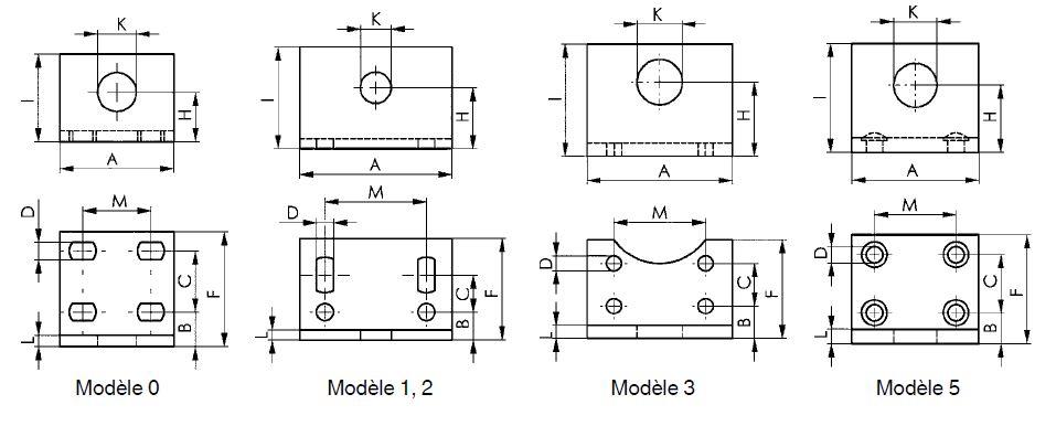 dessin technique équerre de fixation amf 6843