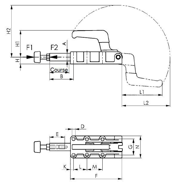 dessin technique sauterelle lourde amf 6842PK