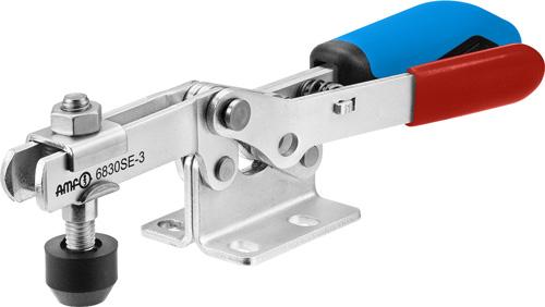 sauterelle horizontale avec verrouillage de sécurité poignée bleue amf 6830SE