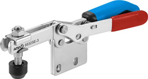 sauterelle horizontale avec verrouillage de sécurité poignée bleue amf 6832SE