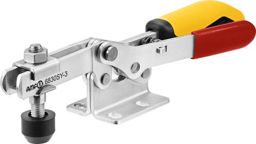 sauterelle horizontale avec verrouillage de sécurité poignée jaune amf 6830SY