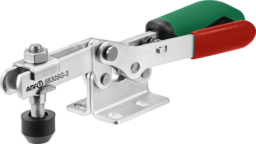 sauterelle horizontale avec verrouillage de sécurité poignée verte amf 6830SG