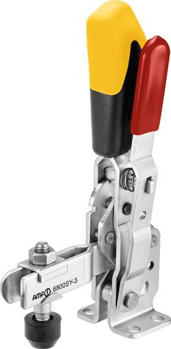 sauterelle verticale à verrouillage de sécurité poignée jaune amf 6800SY