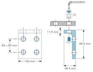 dessin technique support latéral pour Rhino cart et BuildPro