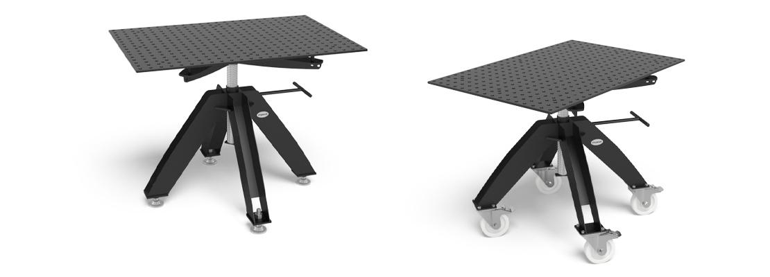 Table de bridage rotative et r glable en hauteur hemmis - Table de travail reglable en hauteur ...