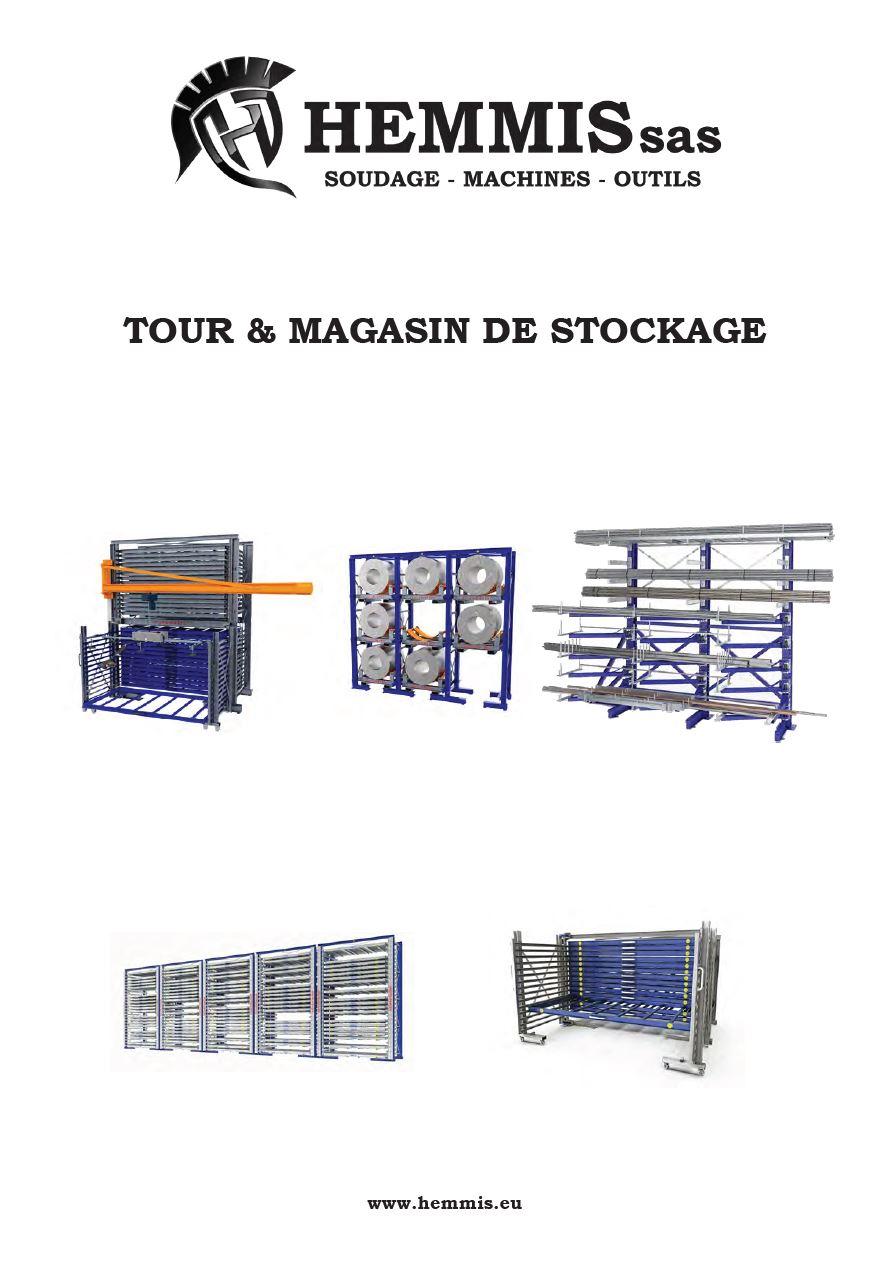 couverture catalogue tour et magasin de stockage storemaster