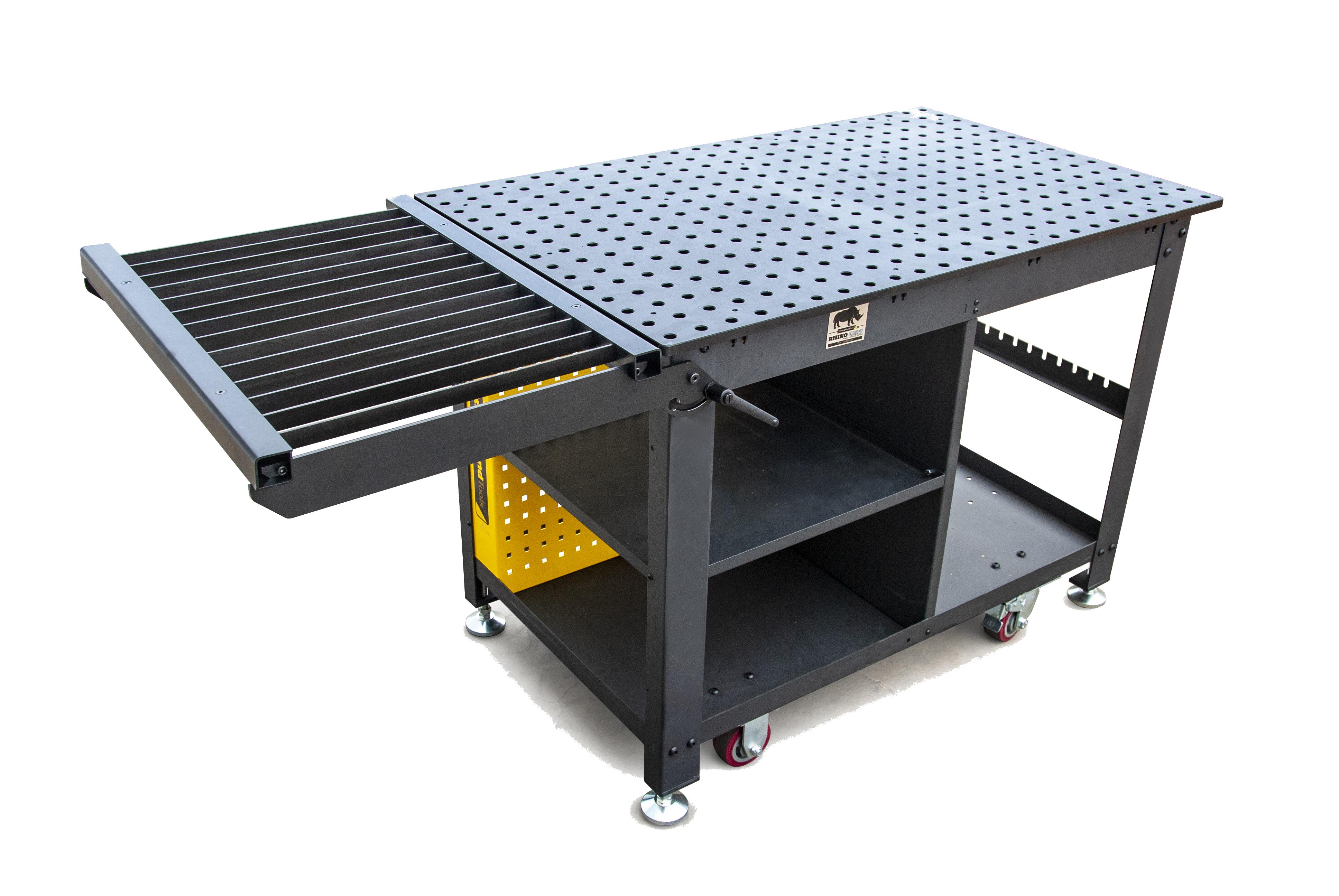 table facon etabli rhino cart avec plateau decoupe plasma