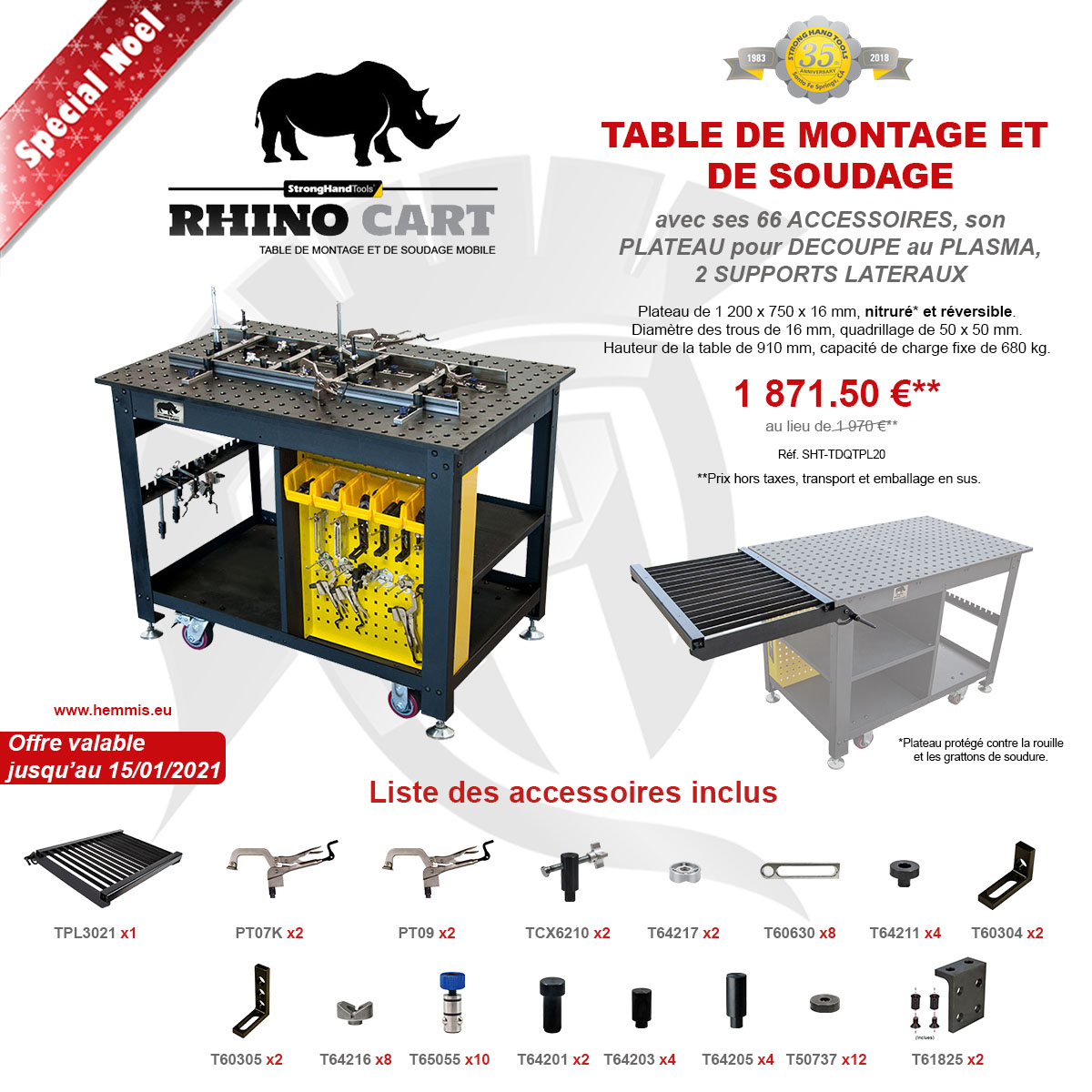 promotion Rhino Cart all package Noël 2020