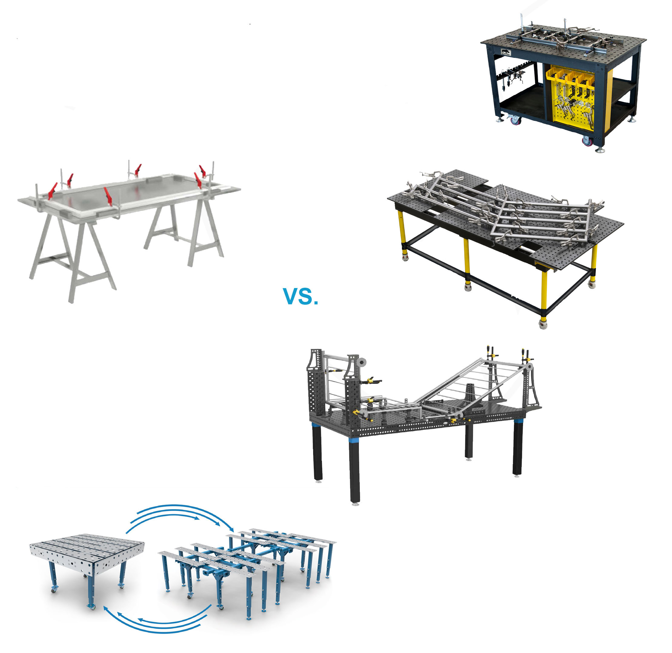 table trétau versus table de soudage