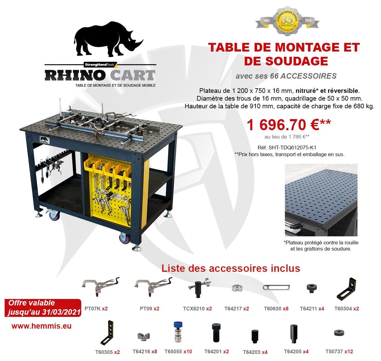 promotion Rhino Cart 1er trimestre