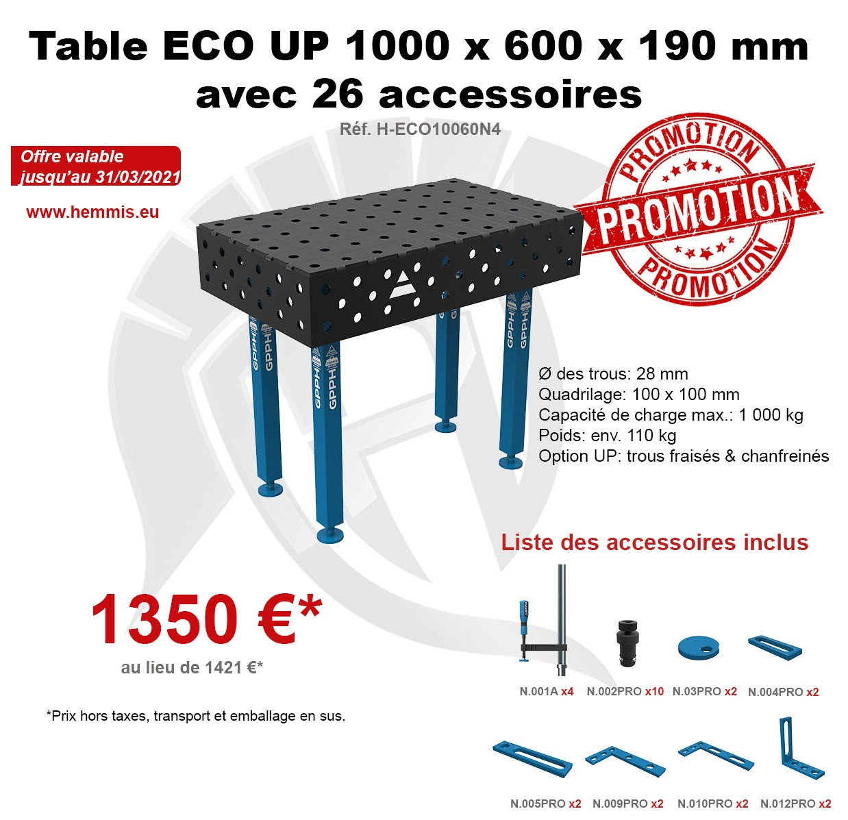 promotion table ECO 1er trimestre