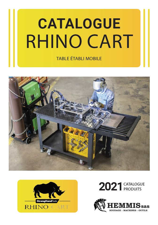 couverture catalogue table rhino cart 2021