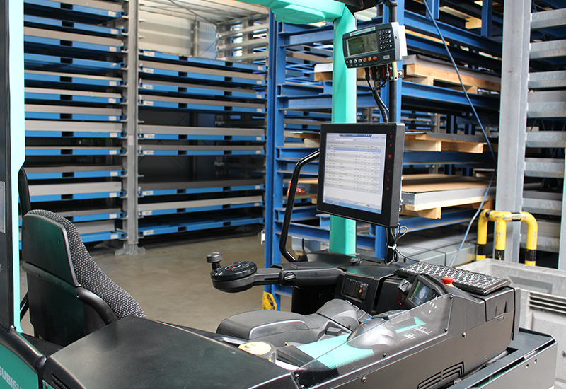 logiciel de gestion des entrepôts de terminaux de chariots élévateurs à fourche