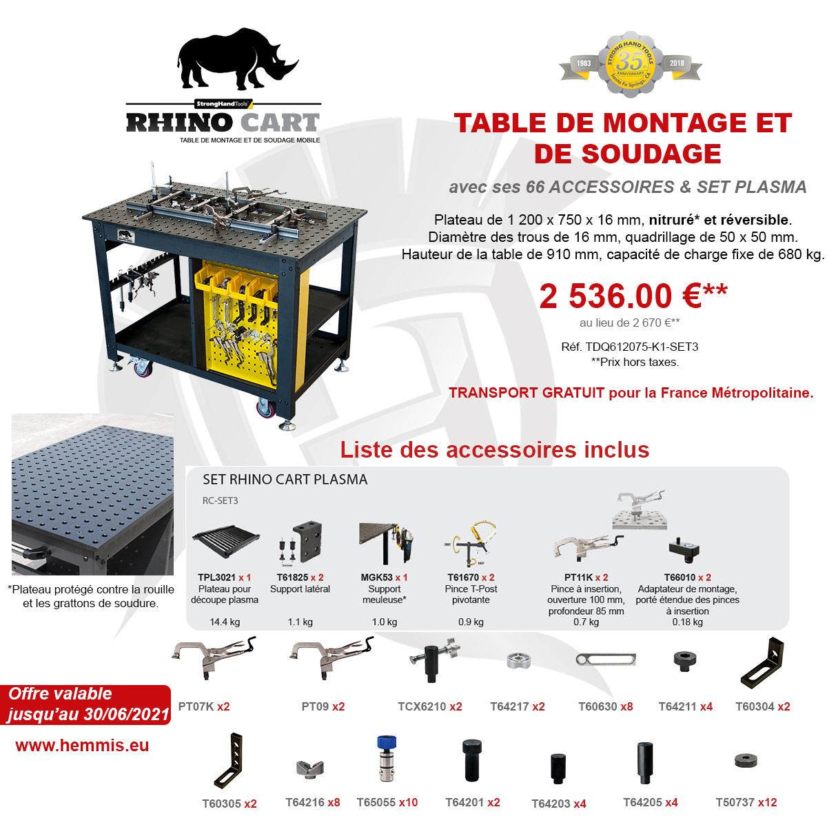 promotion Rhino Cart 2eme trimestre 2021